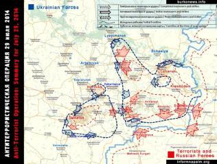 Die Situation in den östlichen Regionen der Ukraine 28.Juli 2014