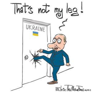Putin not my leg