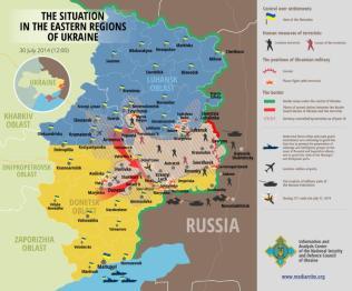Die Situation in den östlichen Regionen der Ukraine 30. Juli 2014