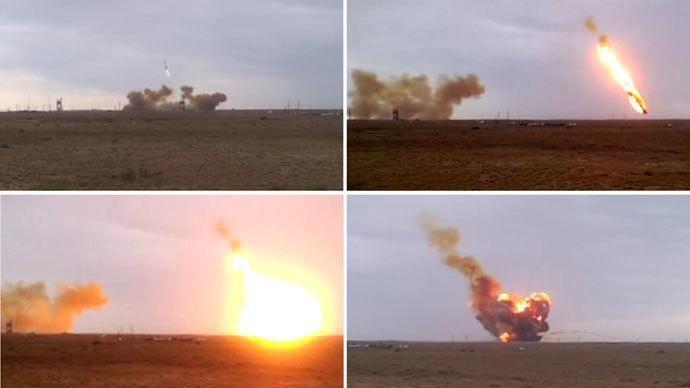 Crash of the Russian Proton-M rocket on Friday, May 15, 2014