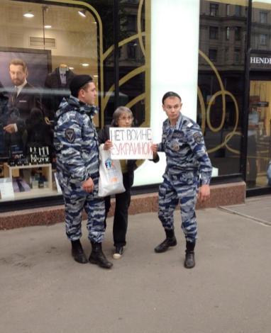 """No to war with Ukraine"" - photo by @radikvildanov"