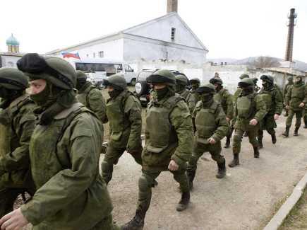 Russian army invading Crimea, Ukraine