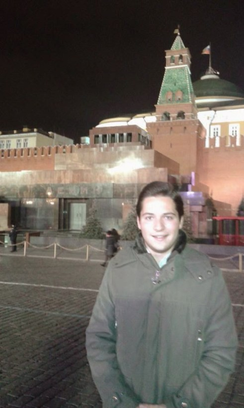 """Alessandro Bertoldi, member of Forza Italia and """"observer"""" of the terrorist """"elections,"""" Moscow, 31 October 2014"""