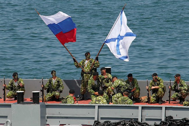 Little Green Men of Russia's navy in Ukraine, July 28, 2013