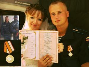 Der Fallschirmjäger Nikolai Koslow, Empfänger der Medaille