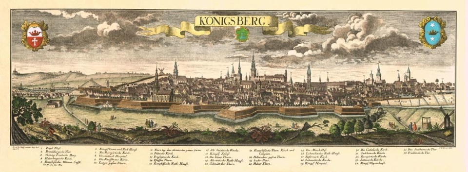 Old engraving showing Königsberg