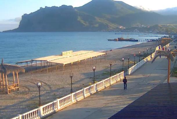 Empty beach crimea: 50% collapse of tourism