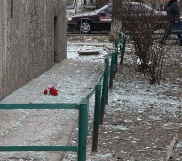 City of Mariupol after Grad rocket shelling by Russian forces, Jan-24-2015