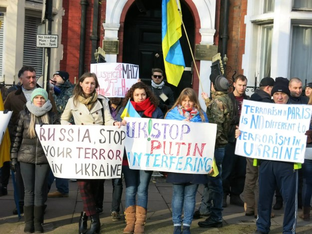 Demonstration to support Ukraine in London. Photo credit: London Euromaidan