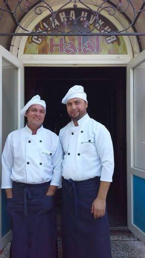 Anver Kadyor at the doorsteps of his restaurant