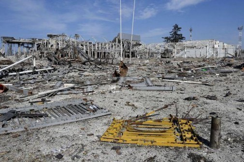 Some of the devastation in the Donbas caused by the Russian military aggression: ruins of the Donetsk airport.