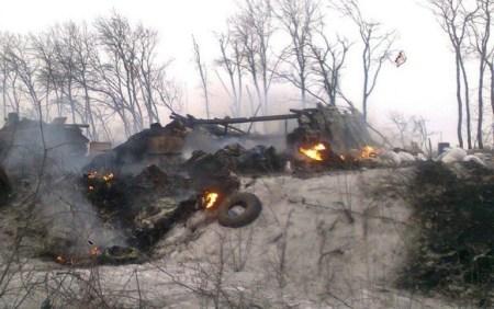 Devastation from the Russian invasion in Donbas, Ukraine