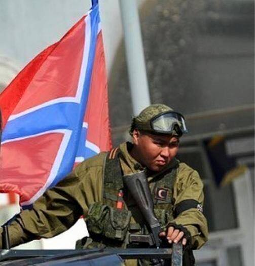 A Russian soldier from Buryatia fighting in Donbas