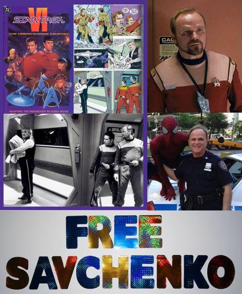 Photo-BJ Davis of Star Trek, The Amazing Spider-Man 2 supports #FreeSavchenko ! Please join the campaign & help Nadiya