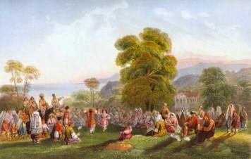 Dancing in Crimean Tatar Khanate by Carlo Bossoli, 1843