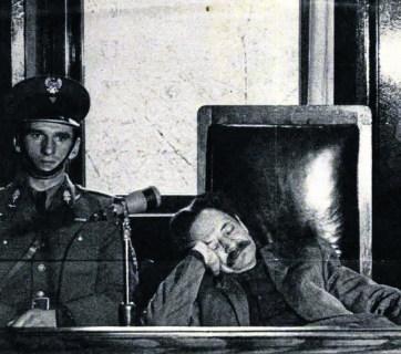 Erich Koch, former Nazi Reichskommissar of Ukraine, at his trial