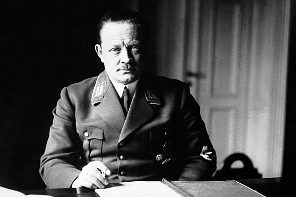 Erich Koch, Nazi commissioner for Ukraine, in his office, on Jan. 12, 1942. (AP Photo)