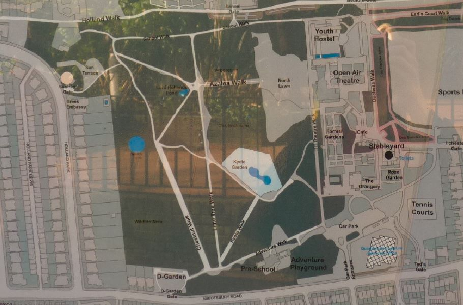 Карта Холанд парку