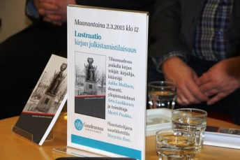 "The book ""Lustratiio"" at its presentation"