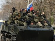 An armed personnel carrier full of mercenaries from Russia in the Donbas, Ukraine (Image: inforesist.org)