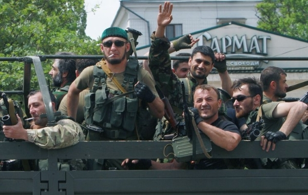 Russian Federation servicemen from Chechnya in Donbas, Ukraine (Image: inforesist.org)