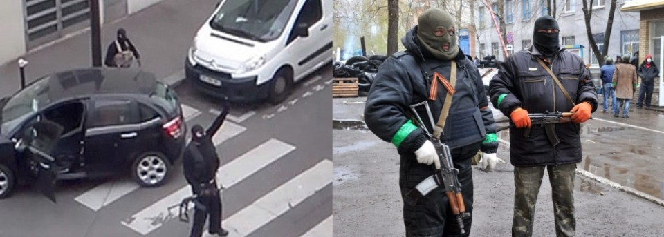 Hybrid War: ISIS terrorists and Russian government employees in Paris and Sloviansk