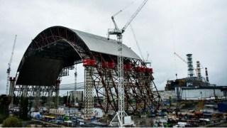 New safe confinement under construction