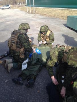 Students during training