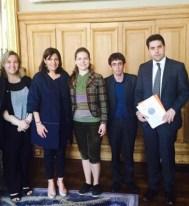 Vira Savchenko meets mayor of Paris