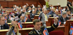 """Voting in the """"DNR Parliament"""" (Image: dsnews.ua)"""