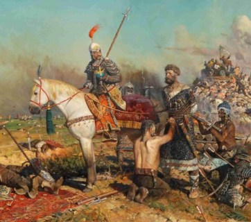 """""""Kalka"""" by Pavel Ryzhenko depicts the Mongol Horde's victory over Kyivan Rus at the Battle of Kalka (circa 1223)"""