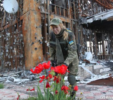 Spring in the village of Pisky near Donetsk airport completely destroyed during the Russian aggression against Ukraine (Image: Olena Bilozerska, Bilozerska.info).