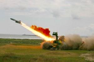 Romania's Coastal Artillery firing a 4K51 Rubezh anti-ship missile