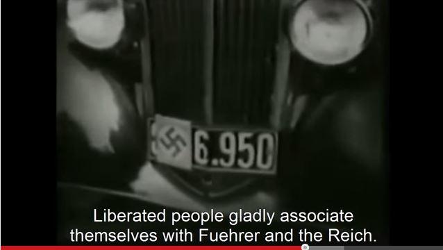 Snapshot from German Sudenland returns home Nazi propaganda film