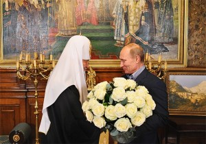 Moscow Patriarch Kirill with Putin