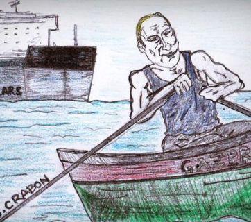 Putin and Gazprom corruption (Image: J. Crabon, BBC.com)