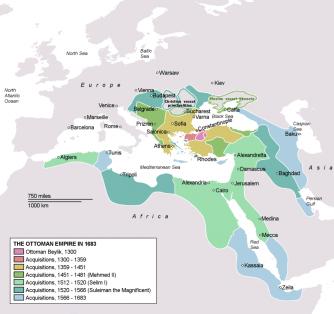 The Ottoman Empire In 1683 (Image: Wikimedia)