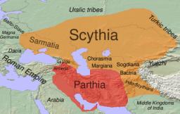 Scythians in the 1st century BC. Image: Wikipedia