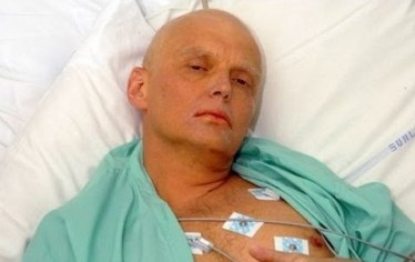 Alexander Litvinenko on his hospital bed after poisoning by pollonium. Photo: wn.com