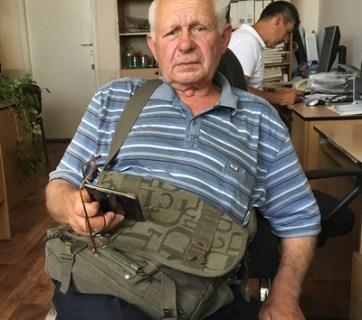 Nikolai Kudriavtsev, whose 30-year old son was tortured and killed by Russian intelligence officer Igor Bezler (Image: Violetta Kirtoka, Fakty.UA)