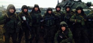 Ethnic Buryat soldiers of Russia's 5th Separate Tank Brigade of the 36th Army of the Eastern Military District, which fought in Debaltseve (Image: InformNapalm)