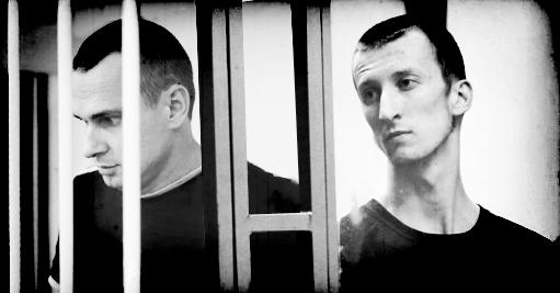 Oleh Sentsov (left) and Oleksandr Kolchenko (right). Image: Ganna Naronina