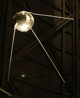 A replica of Sputnik-1