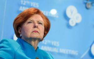 Vaira Vīķe-Freiberga, Latvia's former president who was trained as a clinical psychologist and worked in that field for many years (Image: YES 2015)
