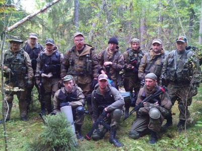 "Participants of the ""Partisan"" military courses, Russia, September 2015"