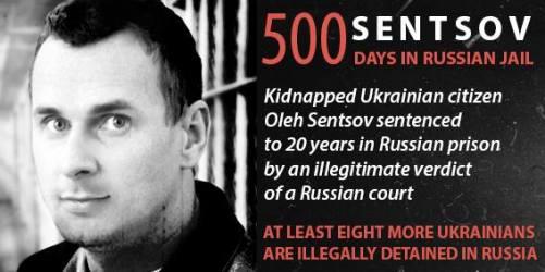 Oleh Sentsov 500 days in Russian jail