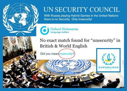 UN Security Council -- Russia's hybrid games bring insecurity