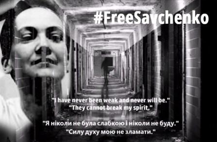 """Nadiya Savchenko #FreeSavchenko """"never been weak"""""""