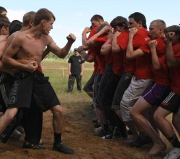 "Sport games of the Kremlin-financed ""Nashi"" youth movement."
