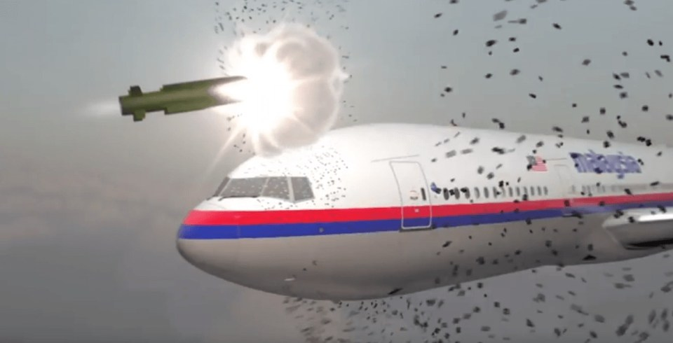 A video simulation of the MH17 shootdown by a Russian Buk missile, produced by the Dutch Safety Board